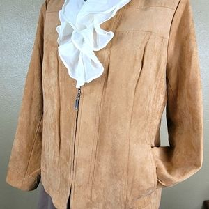 Studio Works Faux Suede Tan Bown 10P Jacket Coat